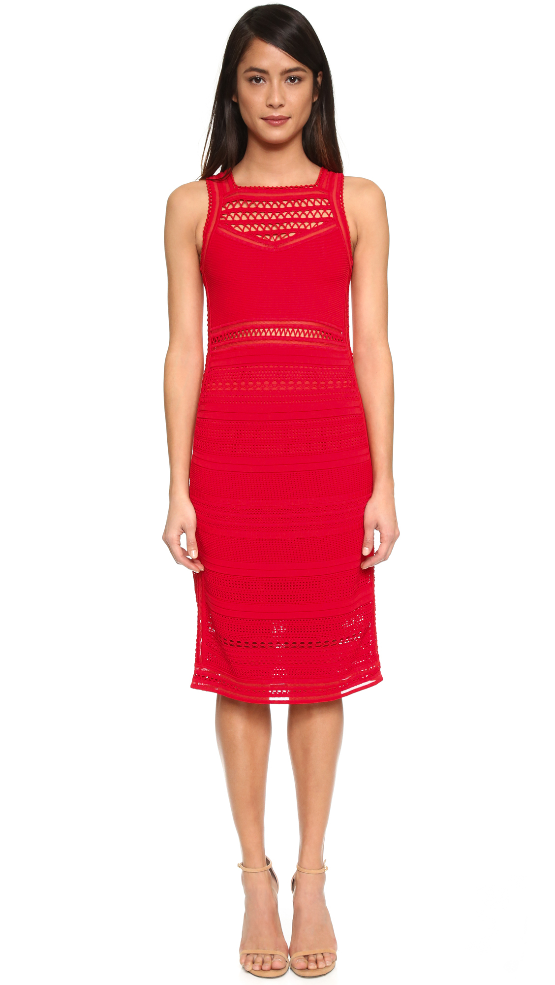 Ohne titel Crochet Dress in Red  Lyst