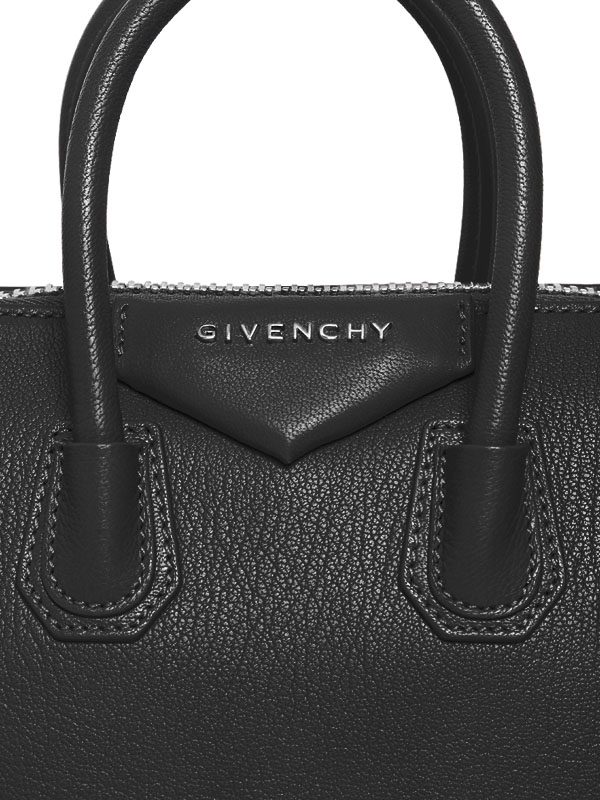 4de7f7b2d8 Lyst - Givenchy Mini Antigona Grained Leather Top Handle in Black