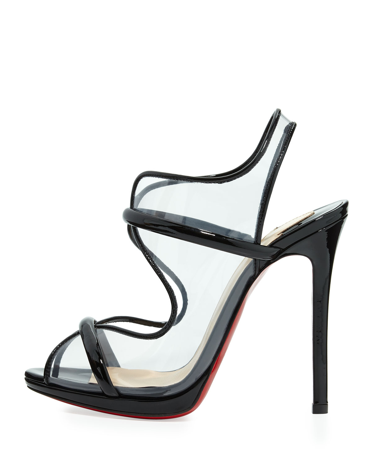 louis vuitton shoes for men - Artesur ? christian louboutin sandals Transparent PVC black patent ...