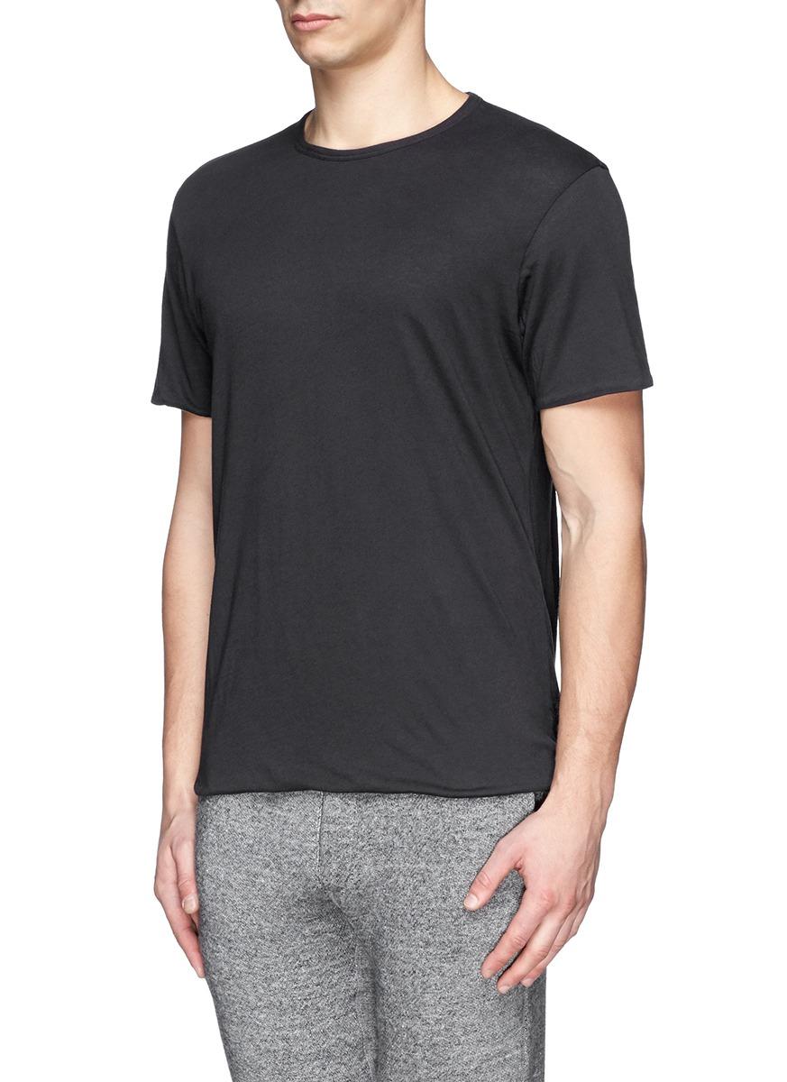 Lyst rag bone reversible cotton jersey t shirt in gray for Rag bone shirt