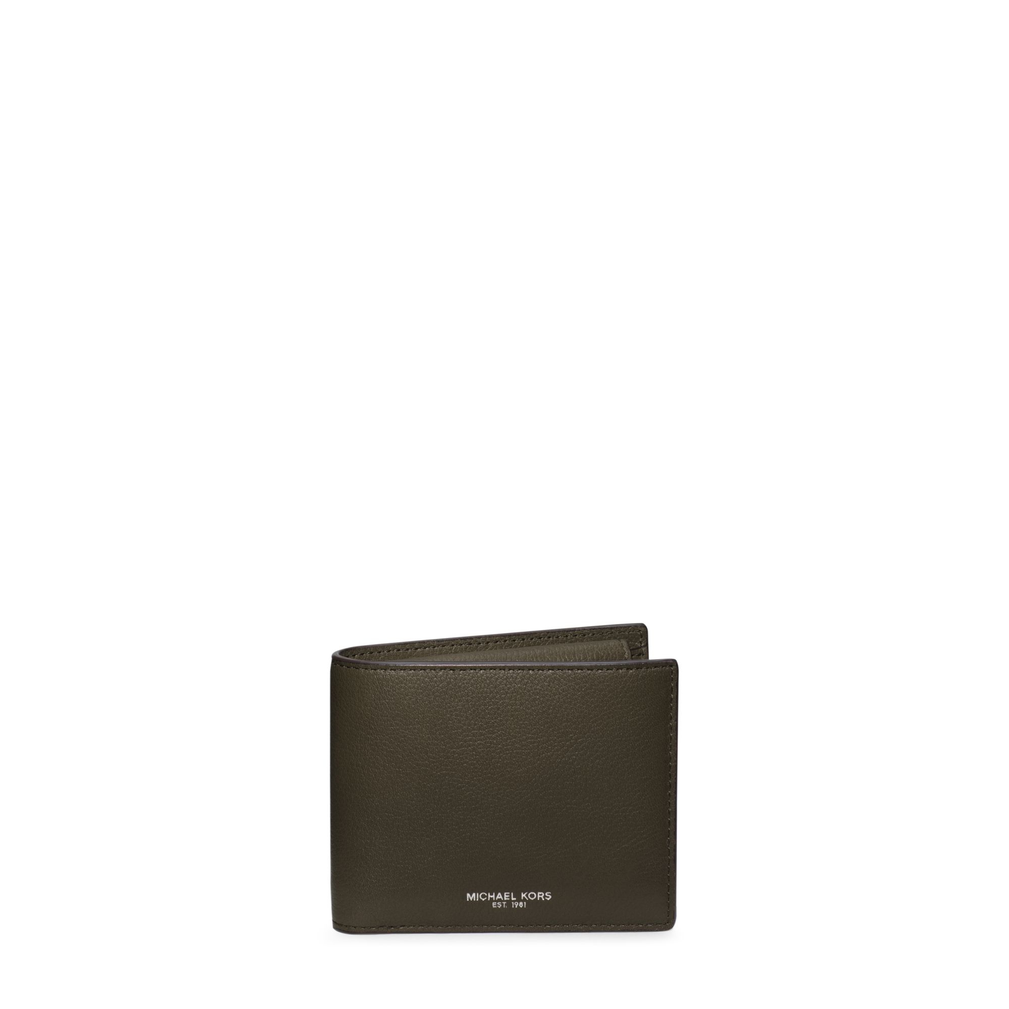 6c09079cd9faf0 Michael Kors Bryant Coin-pocket Leather Billfold Wallet in Green for ...
