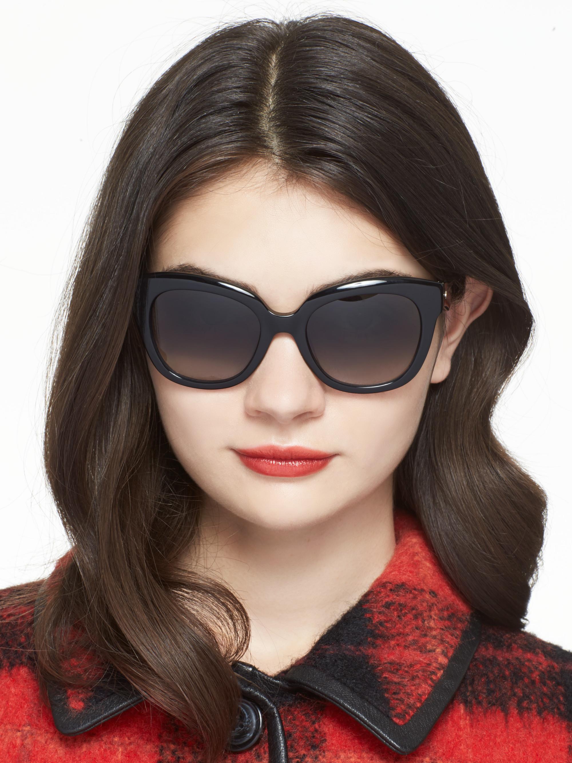 99487e7208 Lyst - Kate Spade Sharlotte Sunglasses in Black