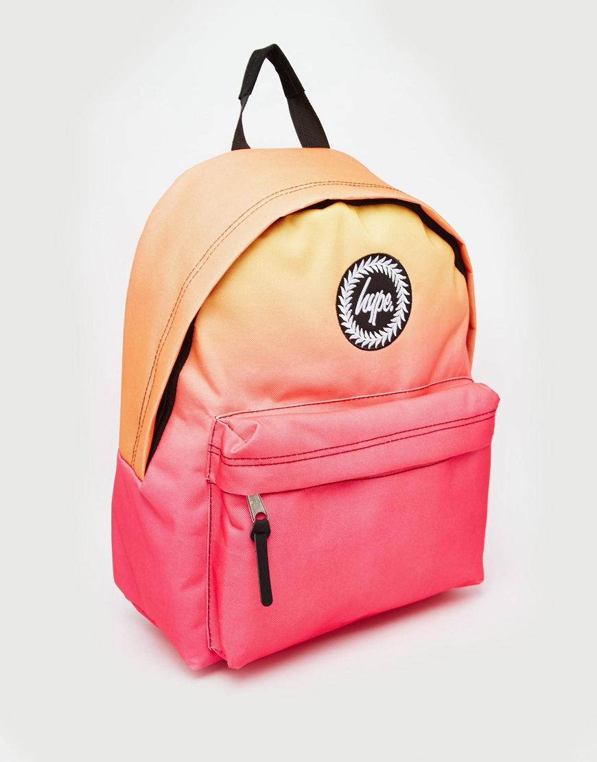 Hype Backpack In Pink And Orange Ombre In Pink Lyst