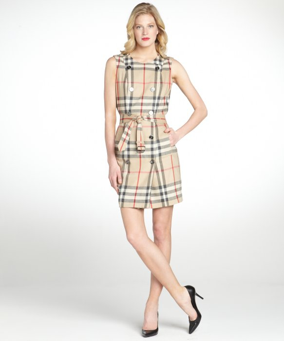 Sleeveless checked dress Burberry UgGL57AMdp