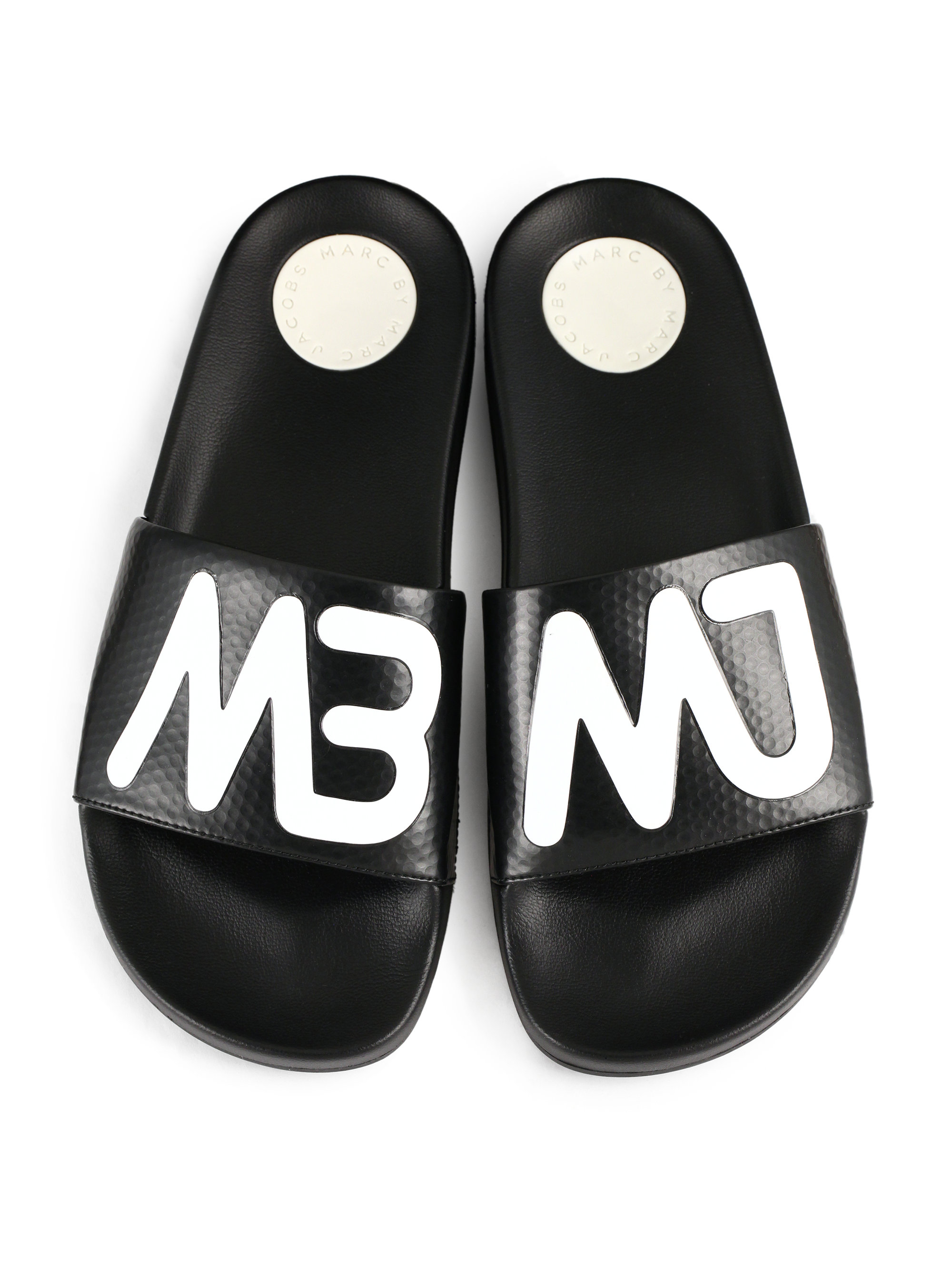 Lyst Marc By Marc Jacobs Tech Slide Sandals In Black
