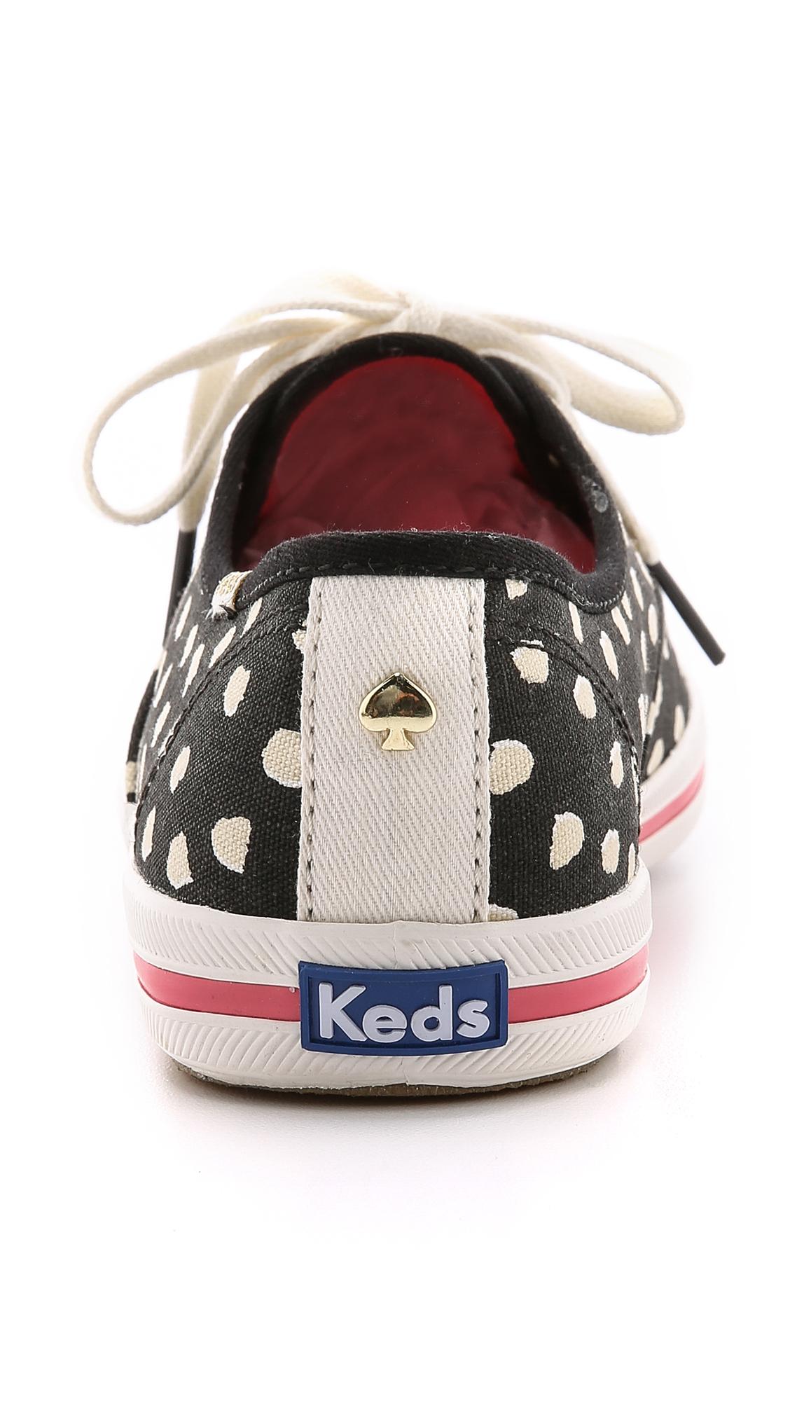 ab9c98bfed85 Lyst - Kate Spade Kick Flamingo Dot Keds Sneakers - Cream Flamingo ...
