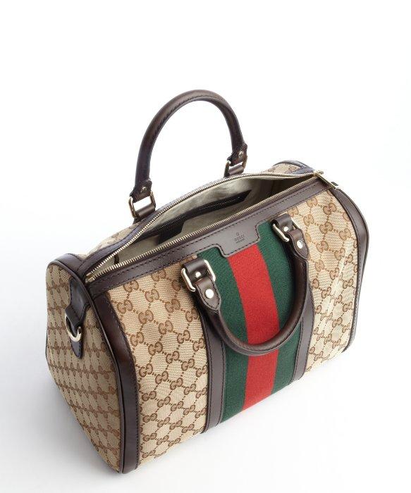 gucci fur tan purse