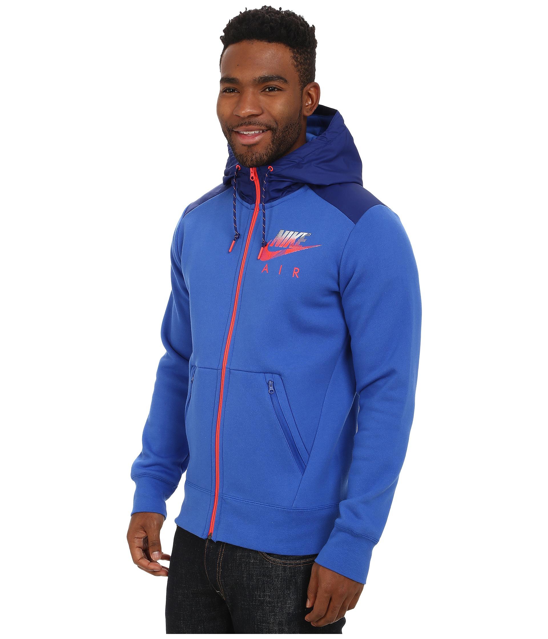388fdaf471 Lyst - Nike Aw77 Fleece Full-zip Hoodie Hybrid in Blue for Men
