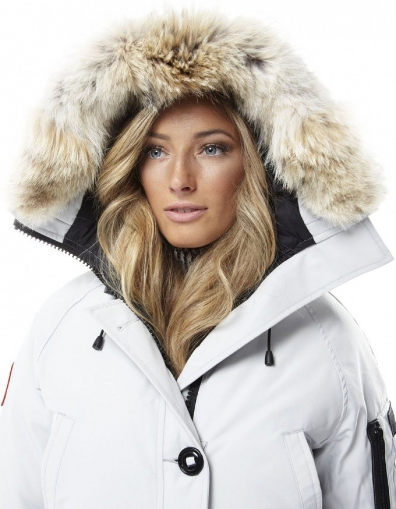 canada goose bomber jacket white