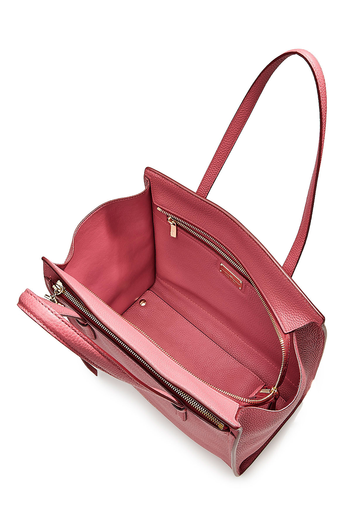 b7149ac11c Lyst - Ferragamo Amy Small Leather Tote - Rose in Pink