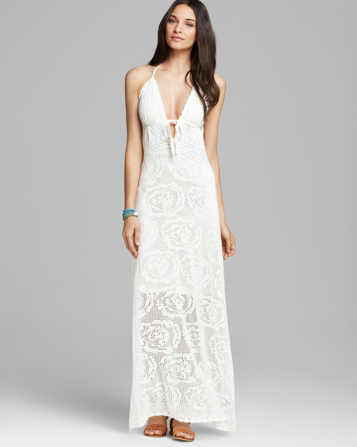 Guess Maxi Dress Lace Crochet in White (True White) Lyst