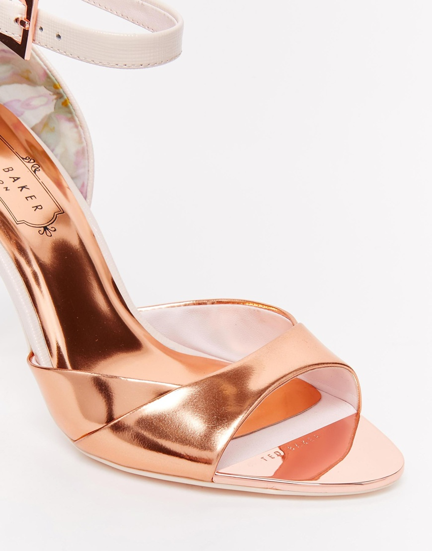 80e0e9e7de50 Lyst - Ted Baker Camiyl Rose Gold Two Part Sandals in Pink