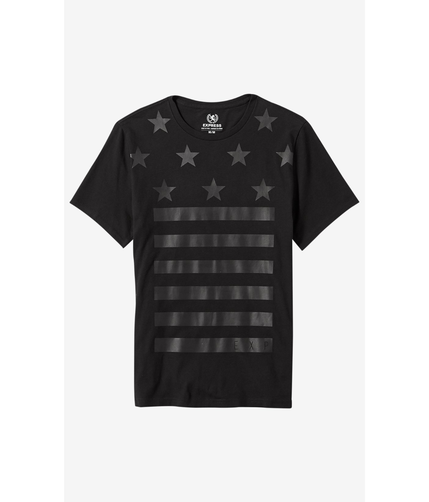 ad409092 Express Black Stars And Stripes Graphic T-shirt in Black for Men - Lyst