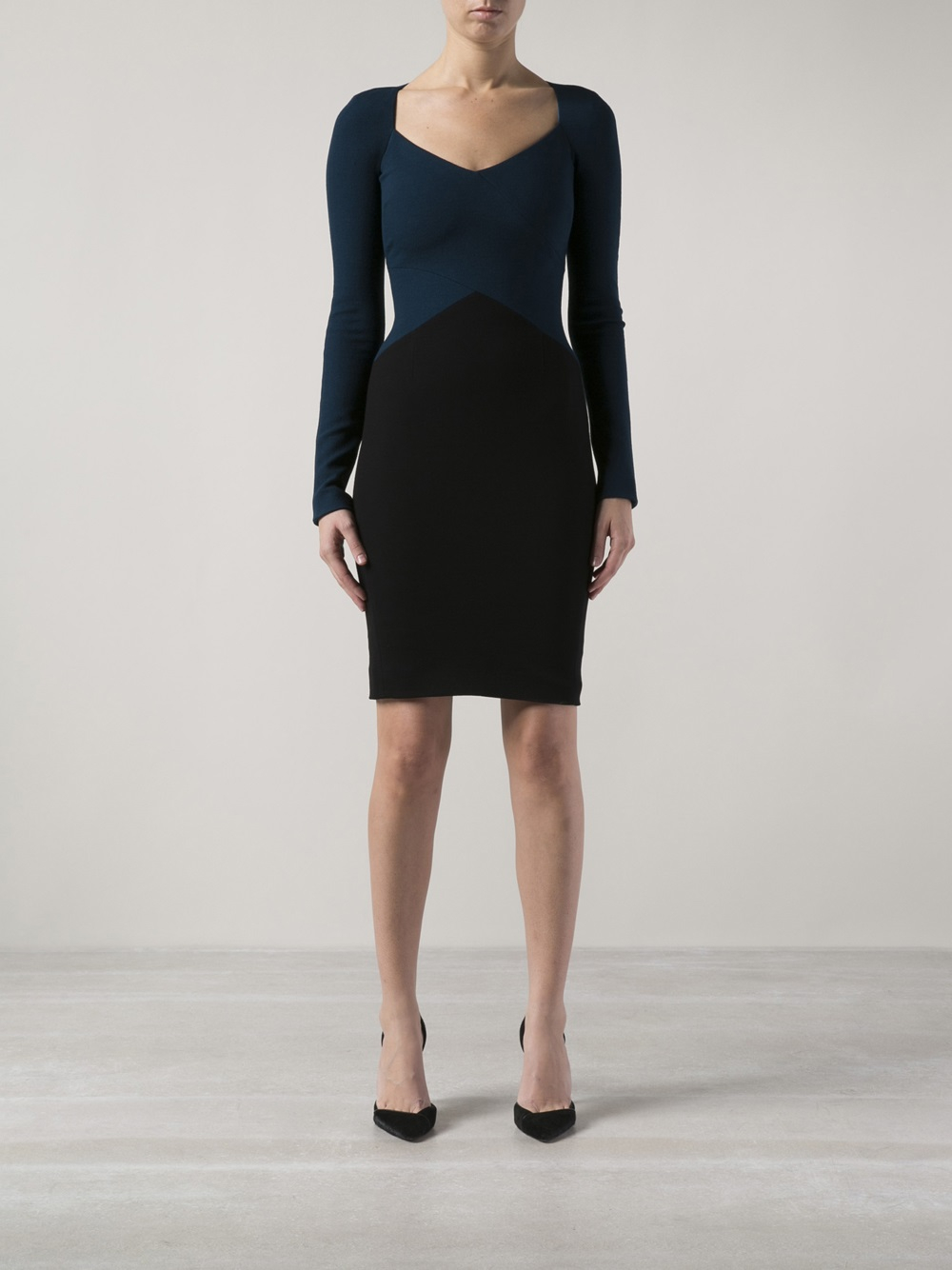 Lyst Narciso Rodriguez Pebble Crepe Dress In Blue