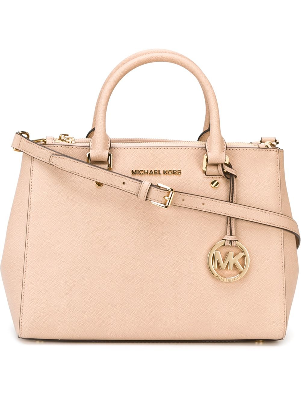 f04f3c83c4 Lyst - MICHAEL Michael Kors  sutton  Tote in Natural
