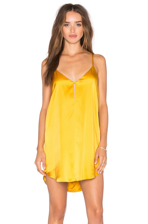 5af272c4db014 Michelle Mason Mini Slip Dress in Yellow - Lyst