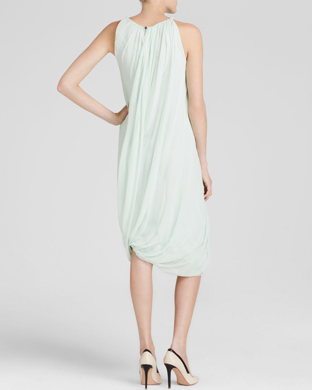 79fb116b7d18 Lyst Elie Tahari Alanis Silk Dress In Green