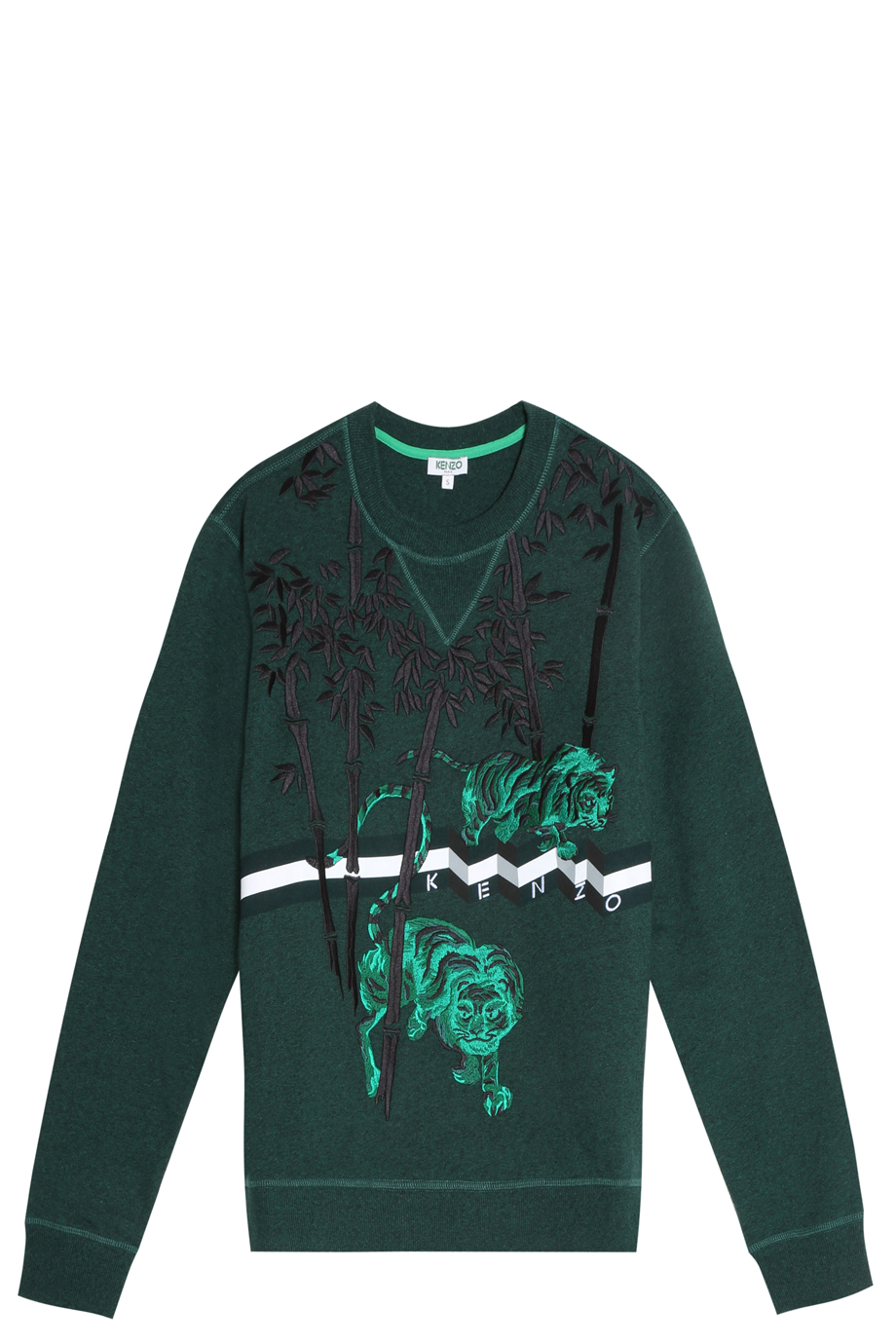 a54877004 KENZO Bamboo Tiger Sweater in Green for Men - Lyst