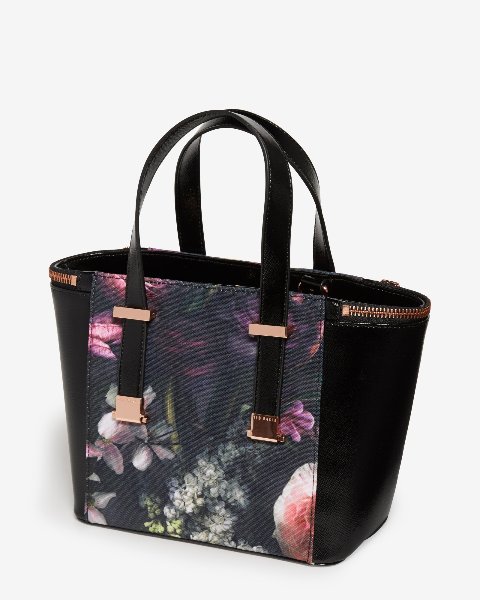 Ted Baker Cicilia Floral Print Tote In Black Lyst