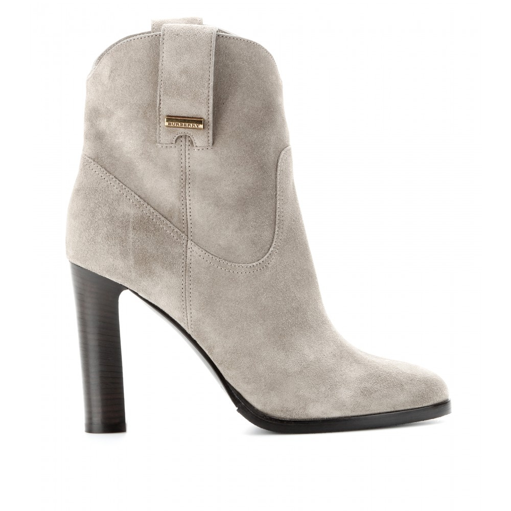 burberry brit finghin suede ankle boots in beige lyst. Black Bedroom Furniture Sets. Home Design Ideas