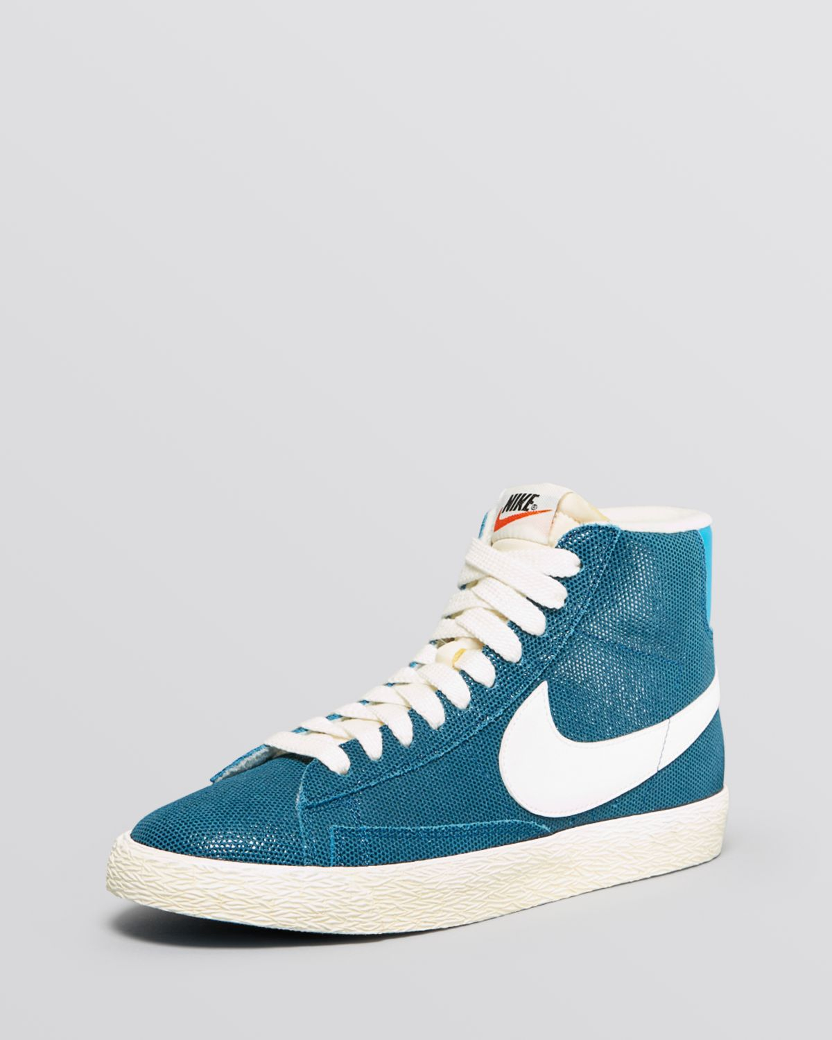 Lyst - Nike Lace Up High Top Sneakers - Women S Blazer Mid in Blue 4edc9078a