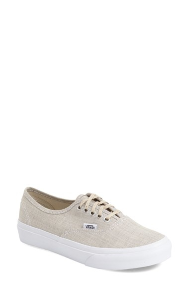3ba5ed2197 Lyst - Vans  authentic - Slim  Chambray Sneaker in Natural