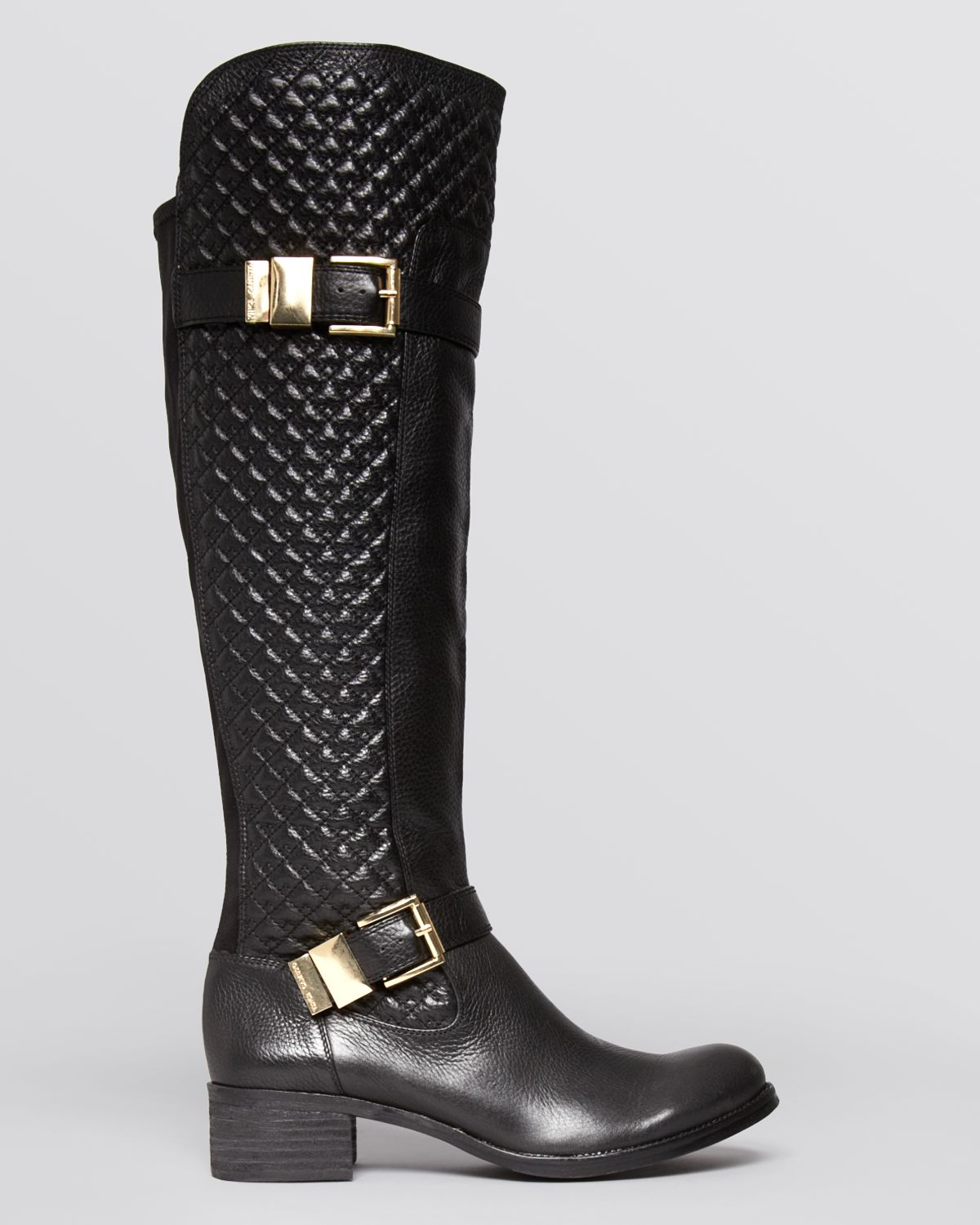 Lyst Vince Camuto Boots Faris Quilted Tall In Black