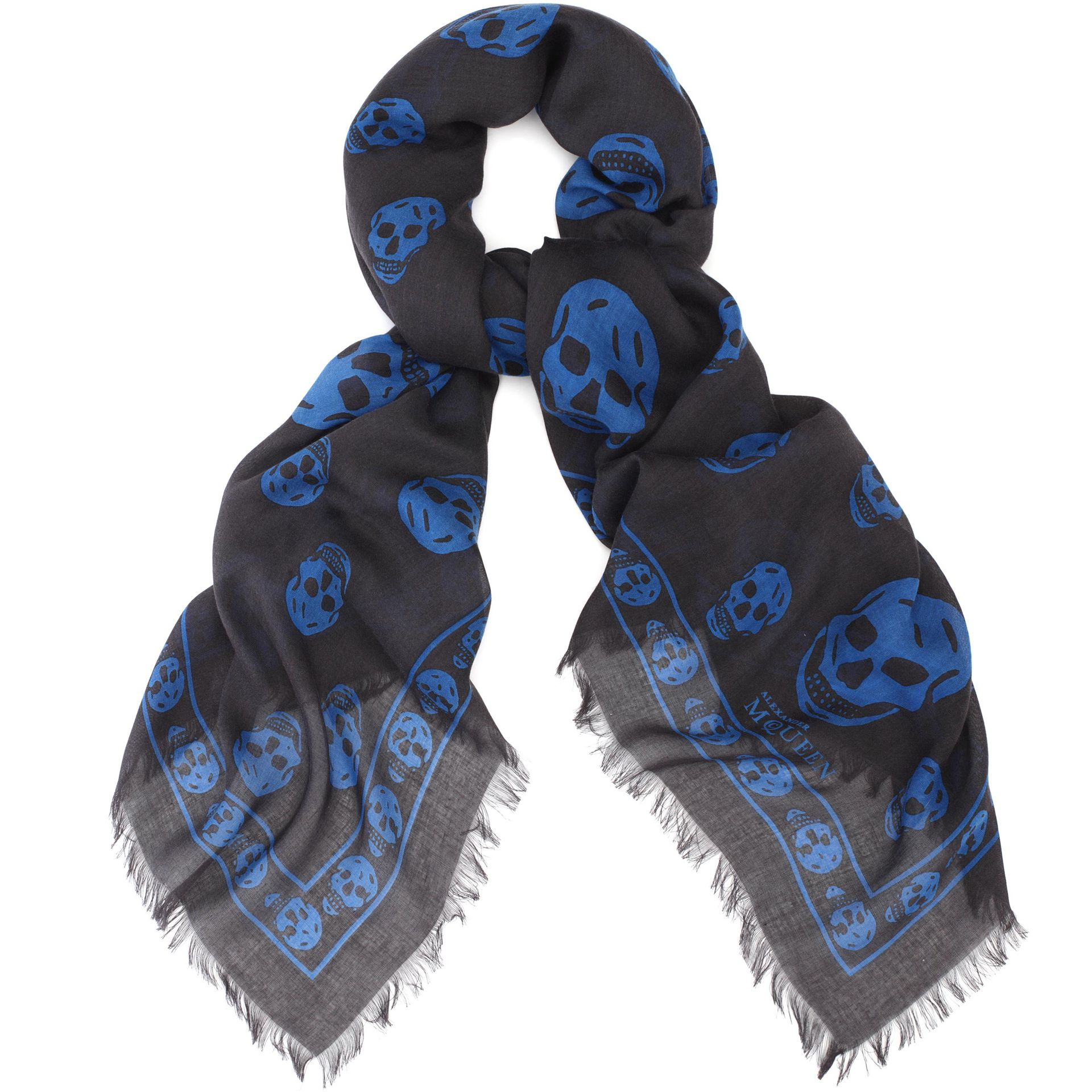 Écharpe Crâne - Bleu Alexander Mcqueen dA5Tu6DBk