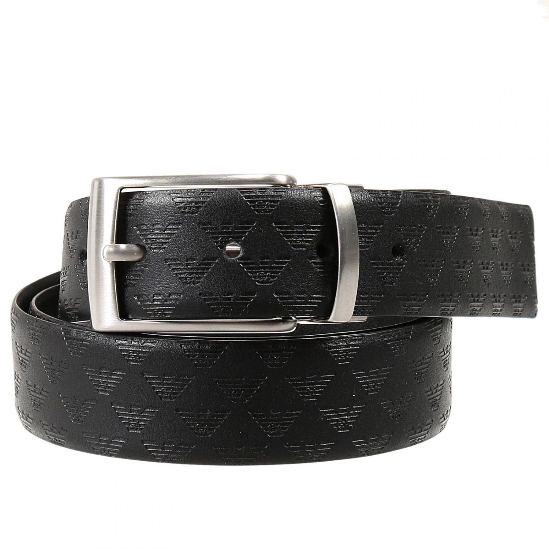 Lyst - Emporio Armani Belt in Black for Men