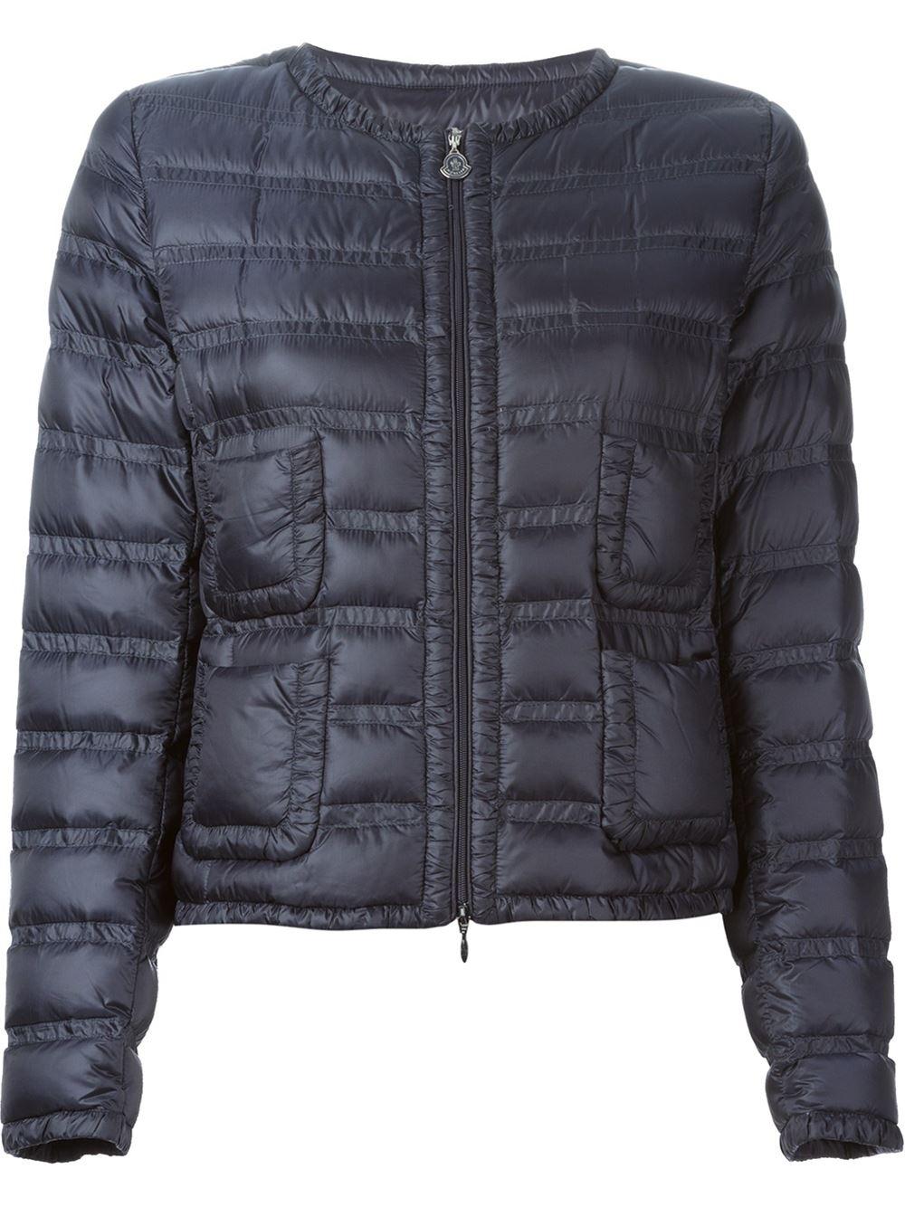 Moncler Navy Padded Jacket