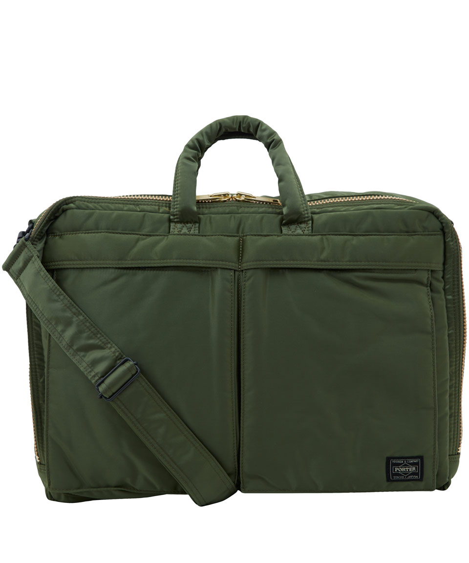 fad2c0f57f86 Porter Green Canvas Briefcase Bag in Green for Men - Lyst