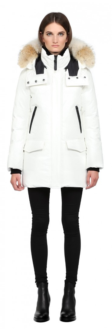 Mackage Juliann Off White Lux Down Parka With Fur Hood in White | Lyst