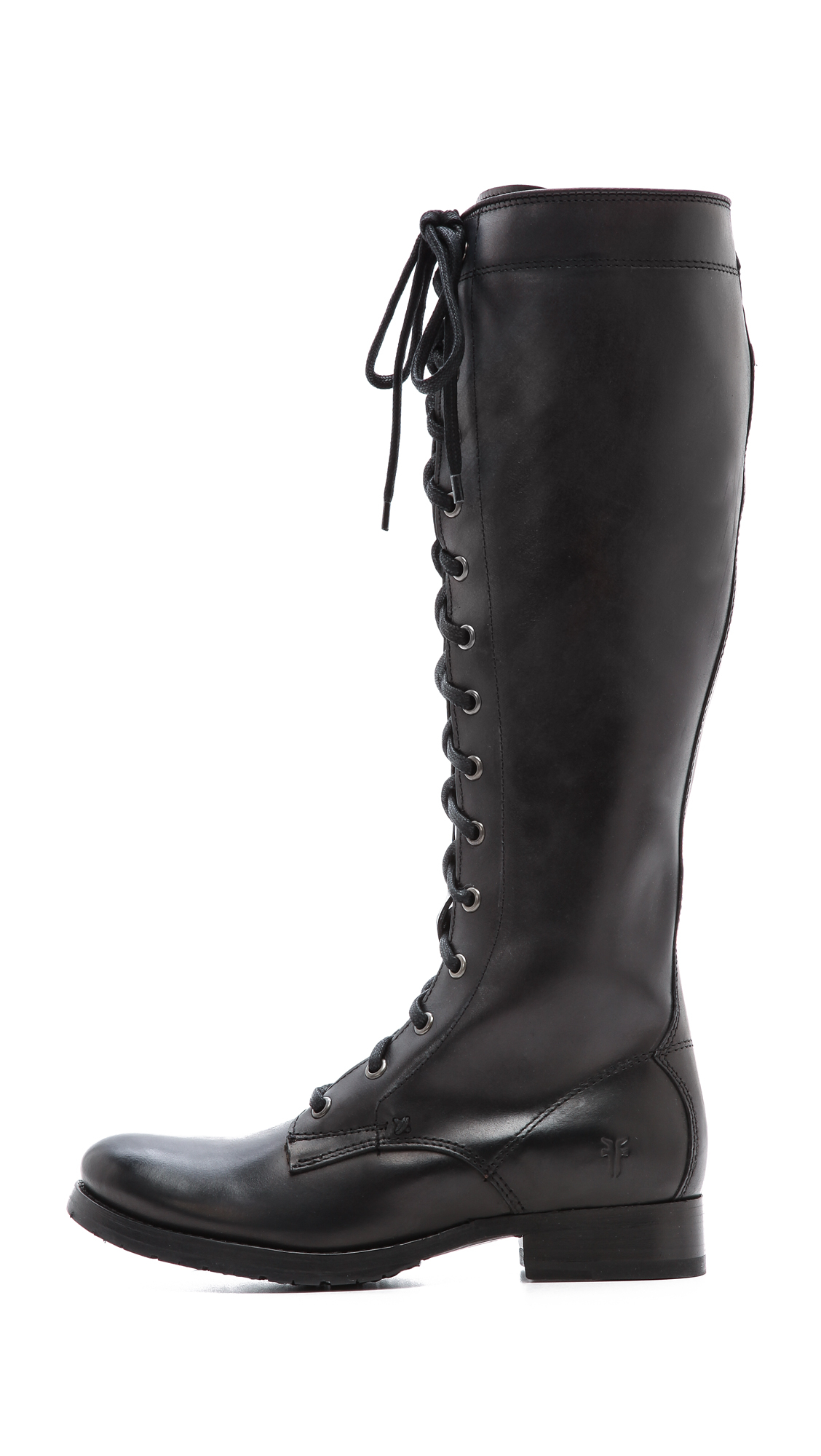 Frye Melissa Tall Lace Up Boots - Black in Black | Lyst