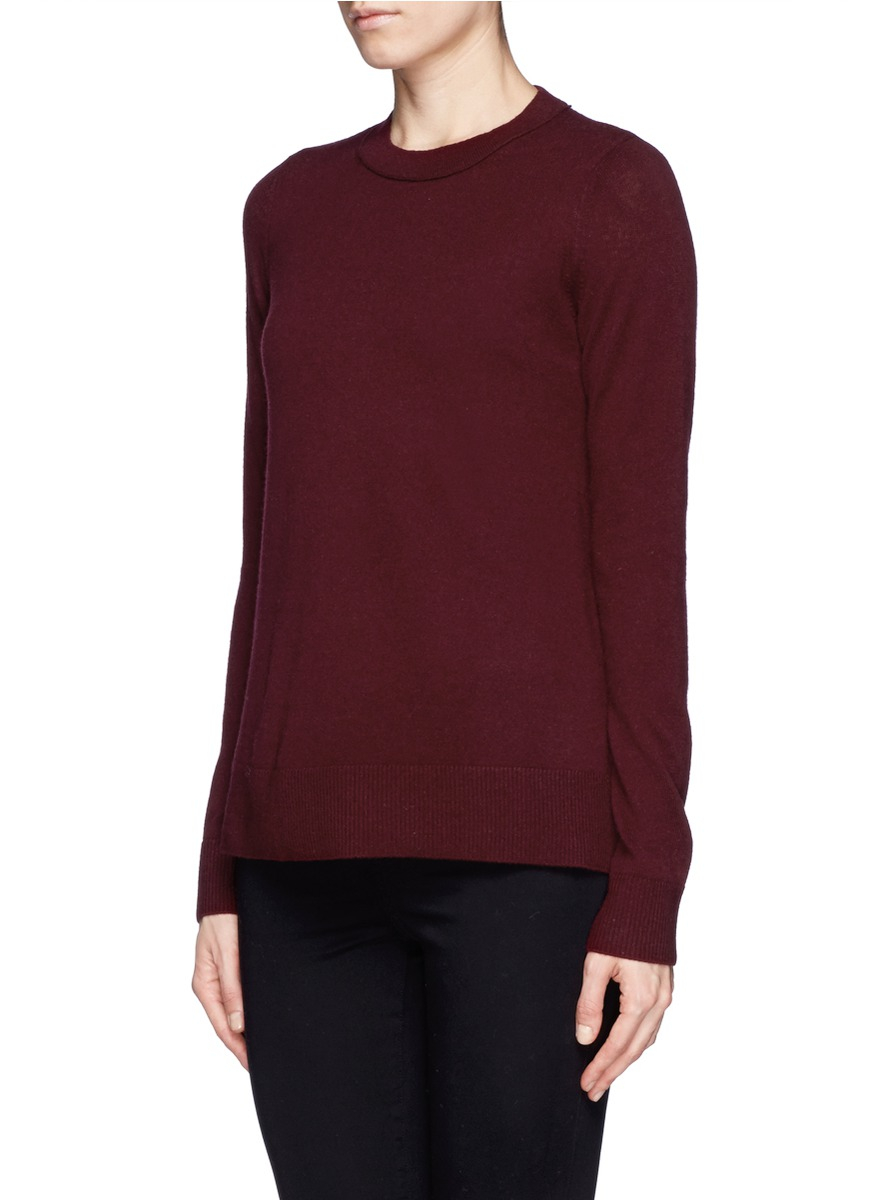 Vince Split Side Cashmere Sweater in Red | Lyst
