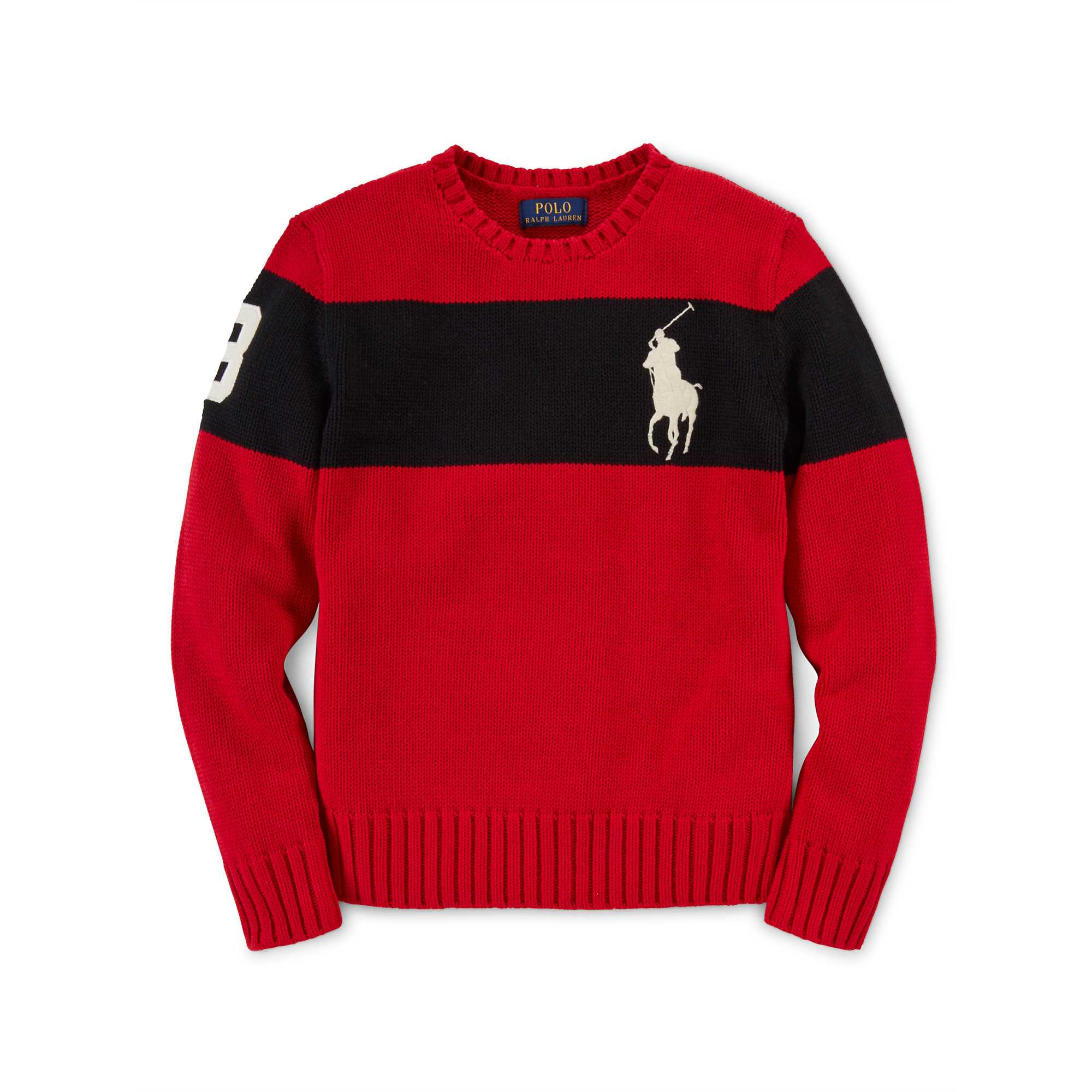 Ralph lauren Big Pony Cotton Sweater in Red for Men (graphic red) | Lyst