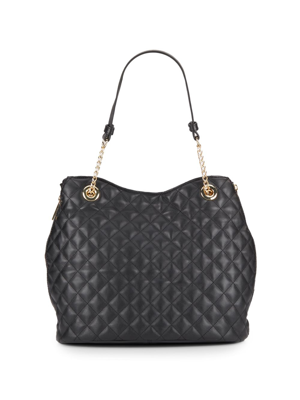 Vince Camuto Leather Chain Detailed Tote Bag In Black Lyst