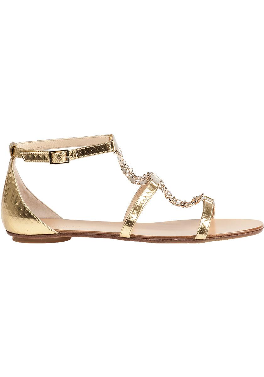 Lyst Sandal Wyatt Jimmy Choo Gold Flat Metallic In 7bgfY6vIy