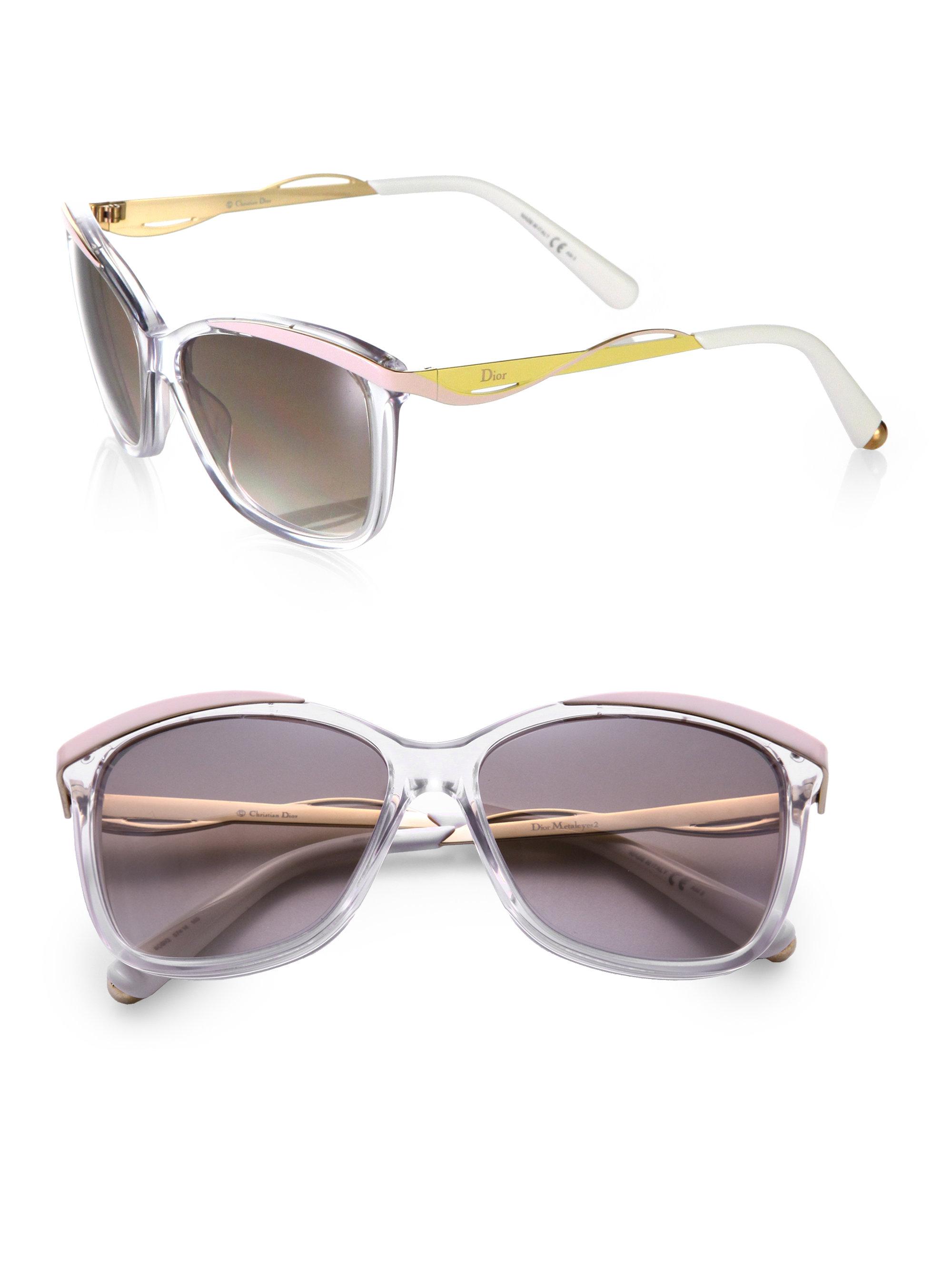 870516545679 Lyst - Dior Metal   Plastic Cat S-Eye Sunglasses in Yellow