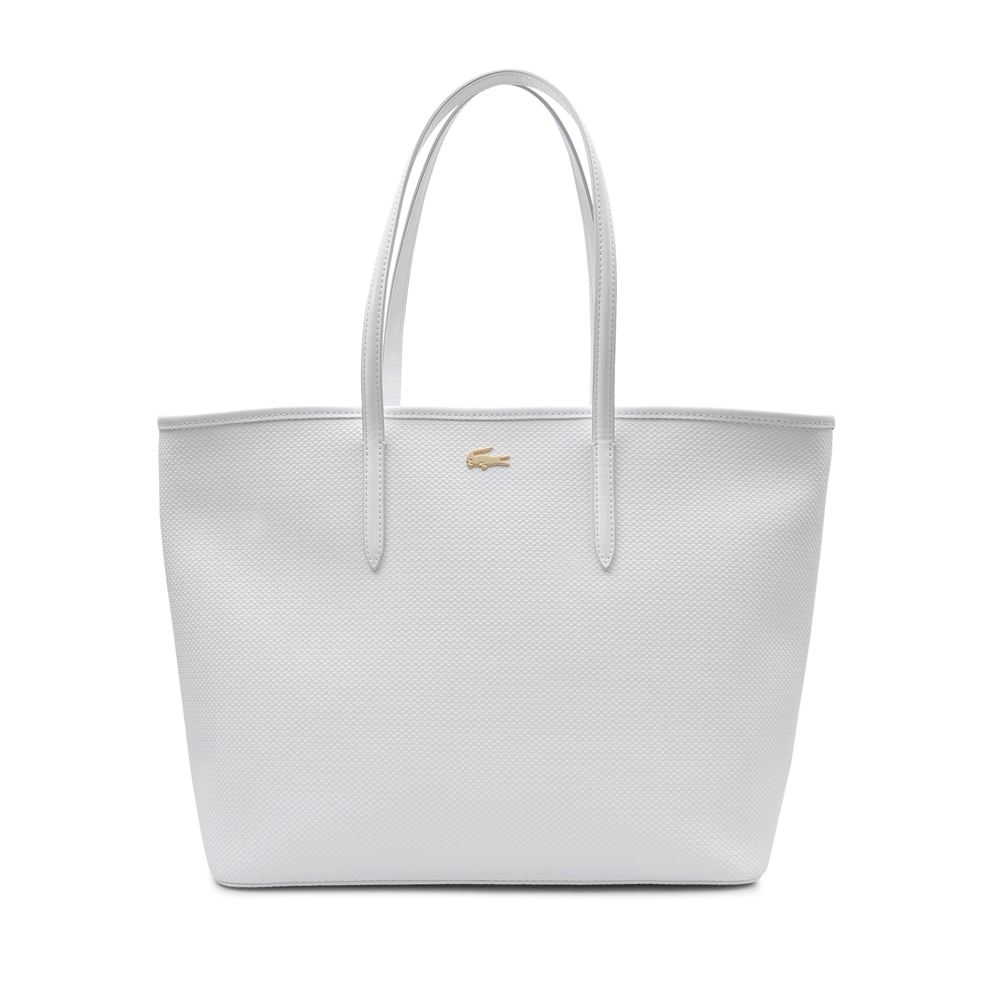 58bf9a82632 Lacoste Medium Chantaco Zip Tote in White - Lyst