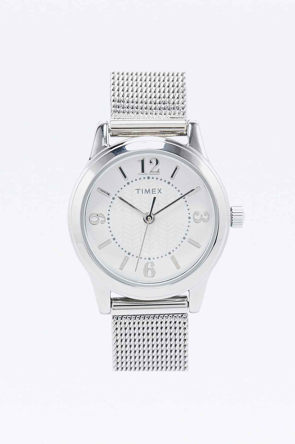 watches metal skagen stainless watch mesh steel silver anita dial ladies