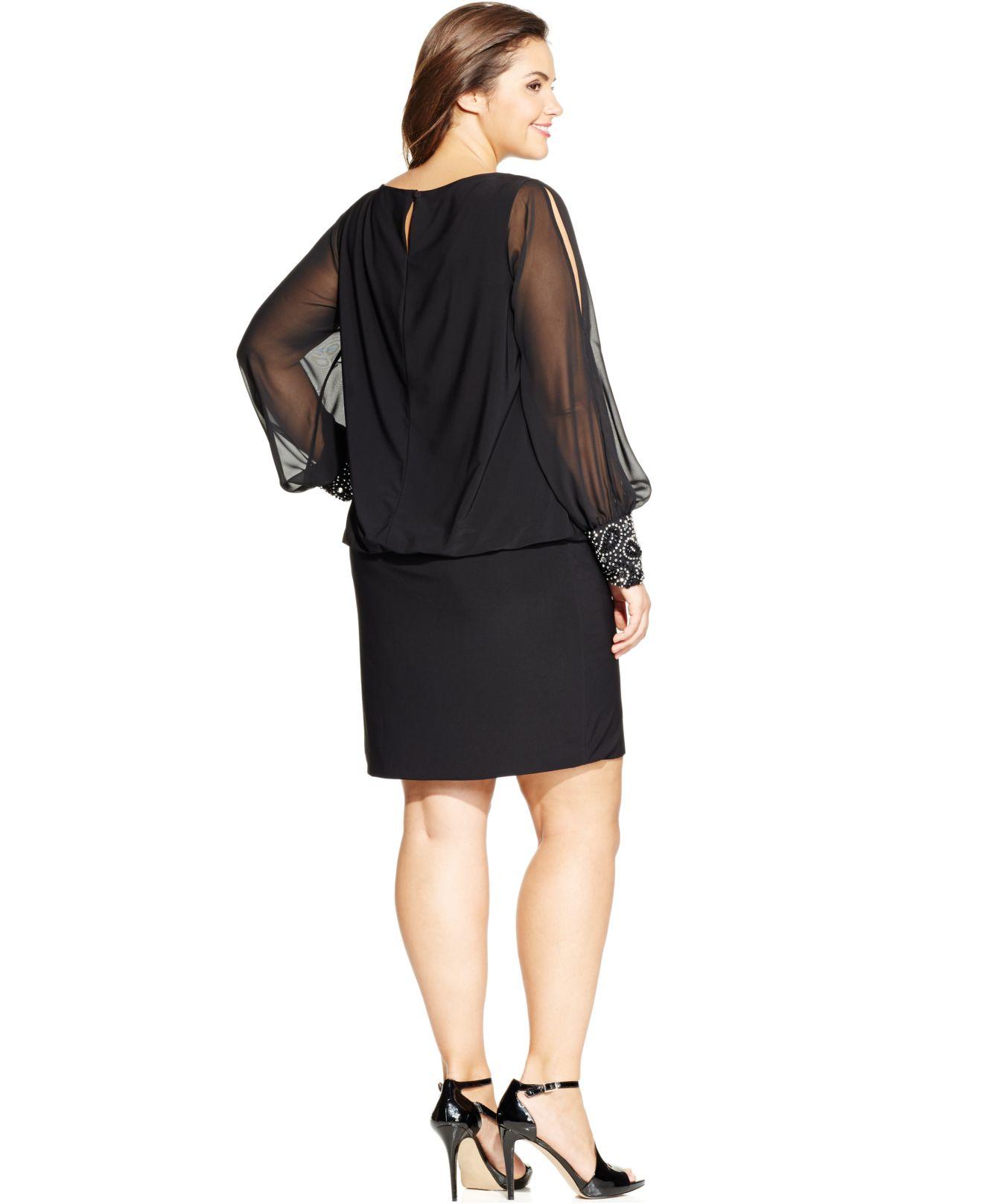 Xscape blouson cocktail dress