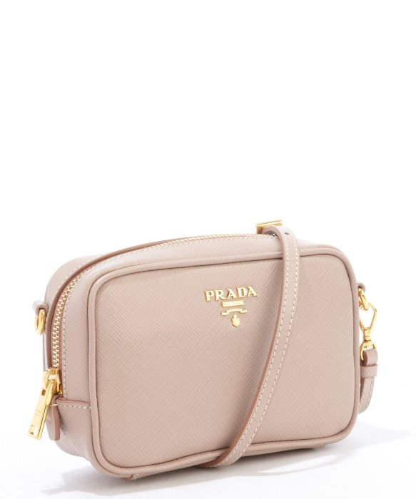 Prada Dusty Rose Saffiano Leather Mini Crossbody Bag in Pink | Lyst