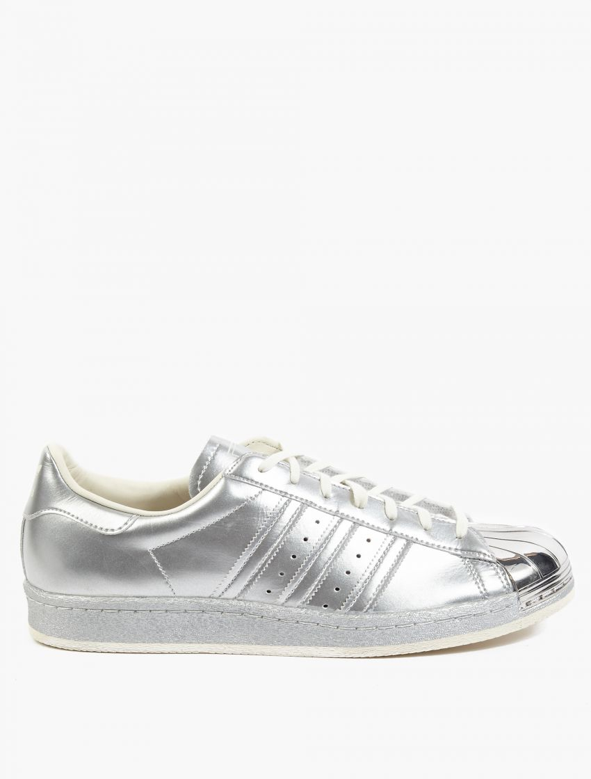 adidas originals silver superstar 80s metallic pack sneakers in silver for men lyst. Black Bedroom Furniture Sets. Home Design Ideas