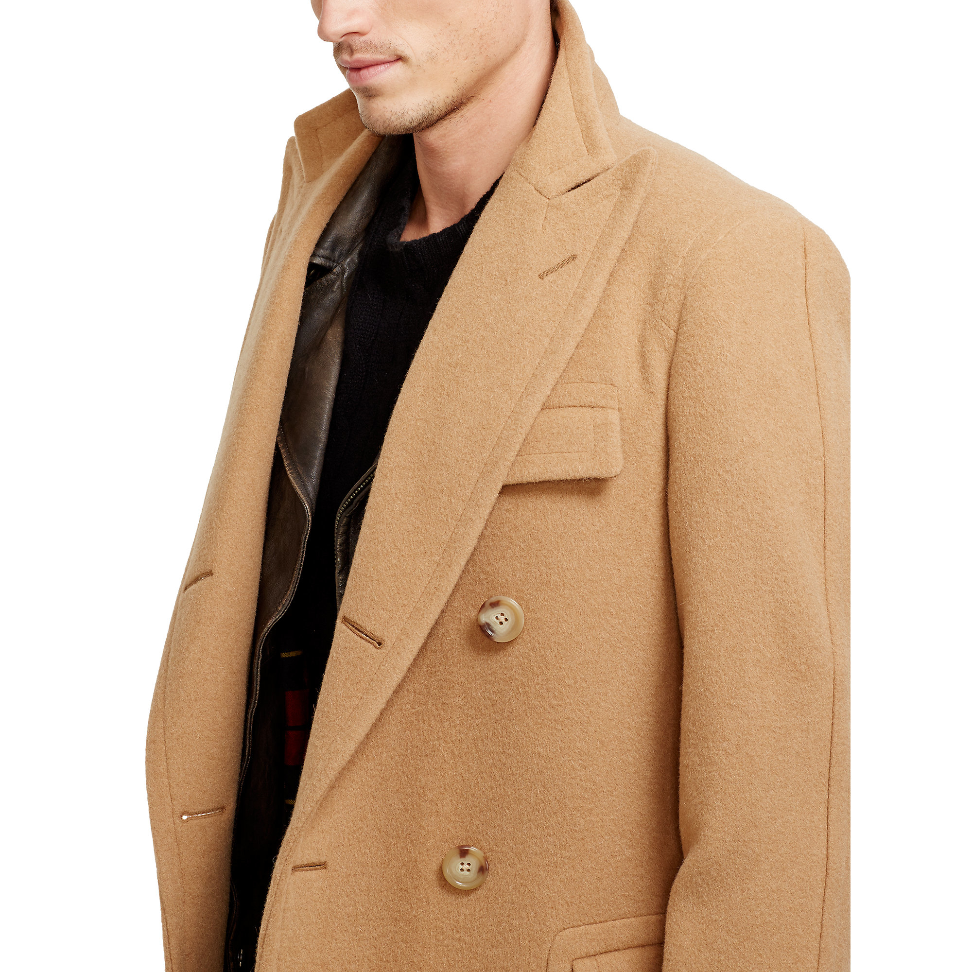 0ea136f9c920 Lyst - Polo Ralph Lauren Camel Hair Polo Coat in Natural for Men