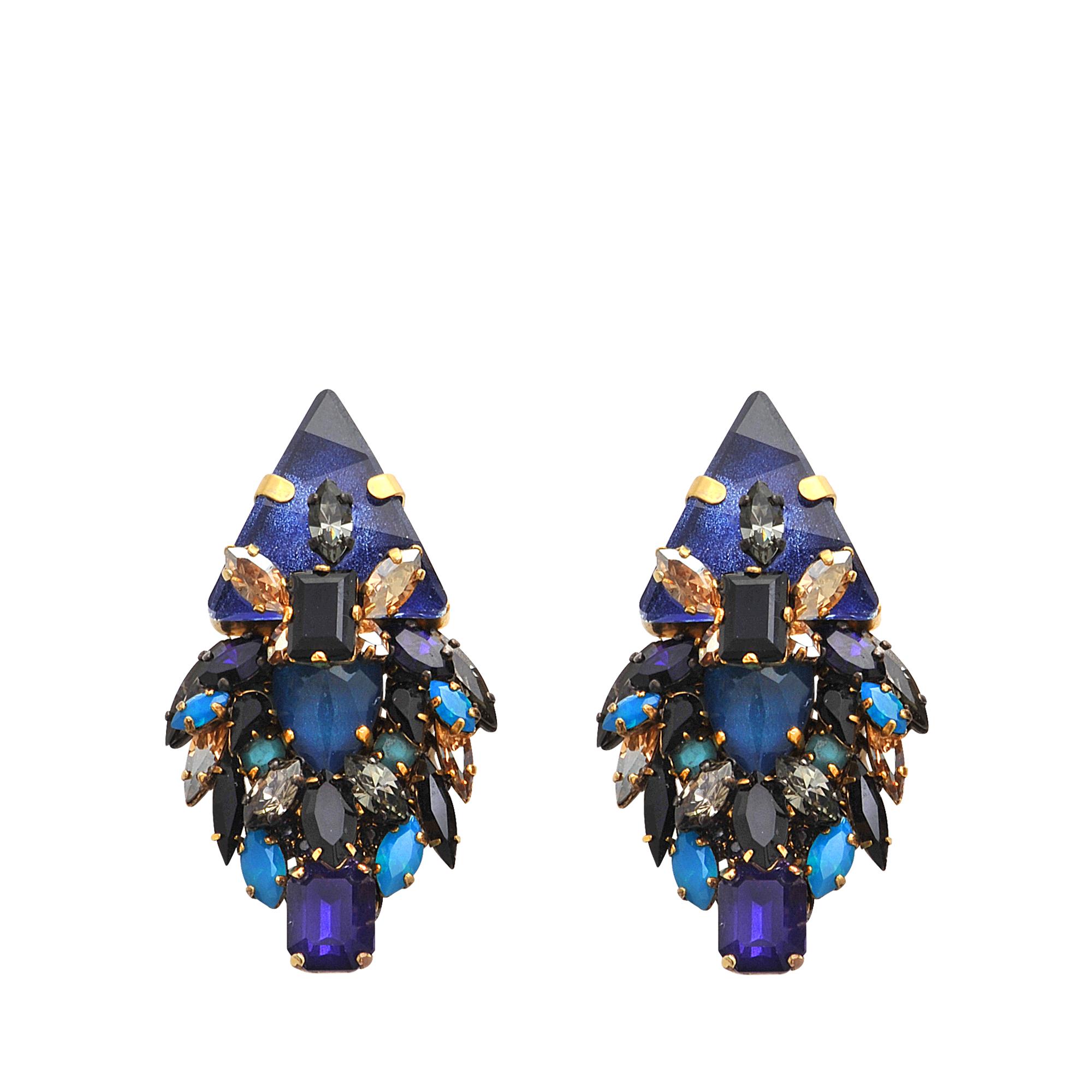 erickson beamon talitha earrings in blue lyst