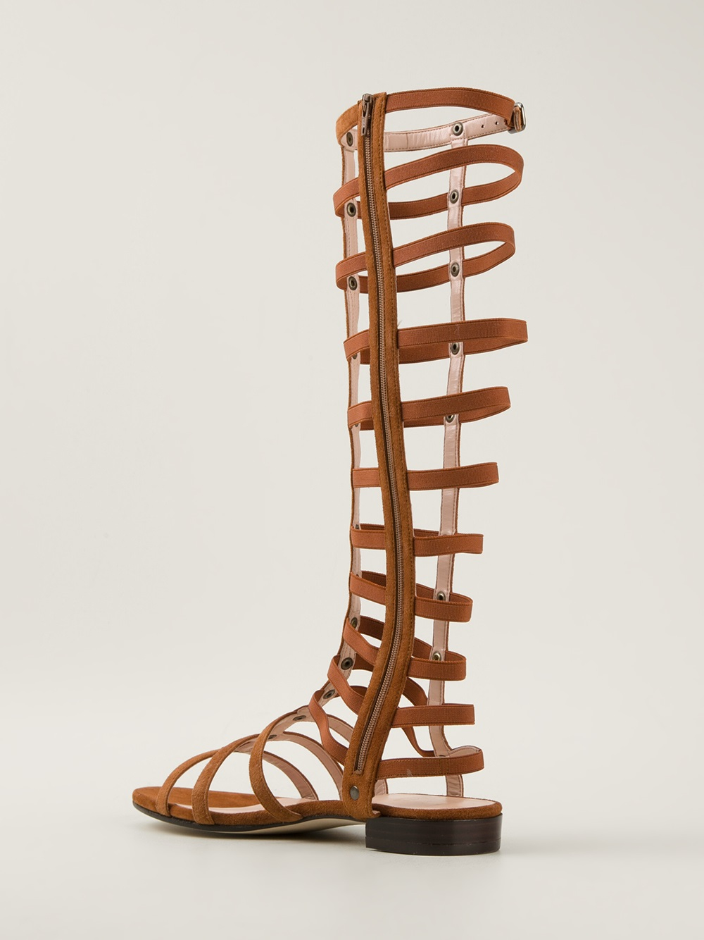 Lyst Stuart Weitzman Mid Calf Gladiator Sandal In Brown