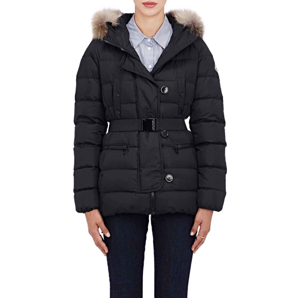 056ff2c58 Lyst - Moncler Genette Fur-trimmed Puffer Jacket in Black