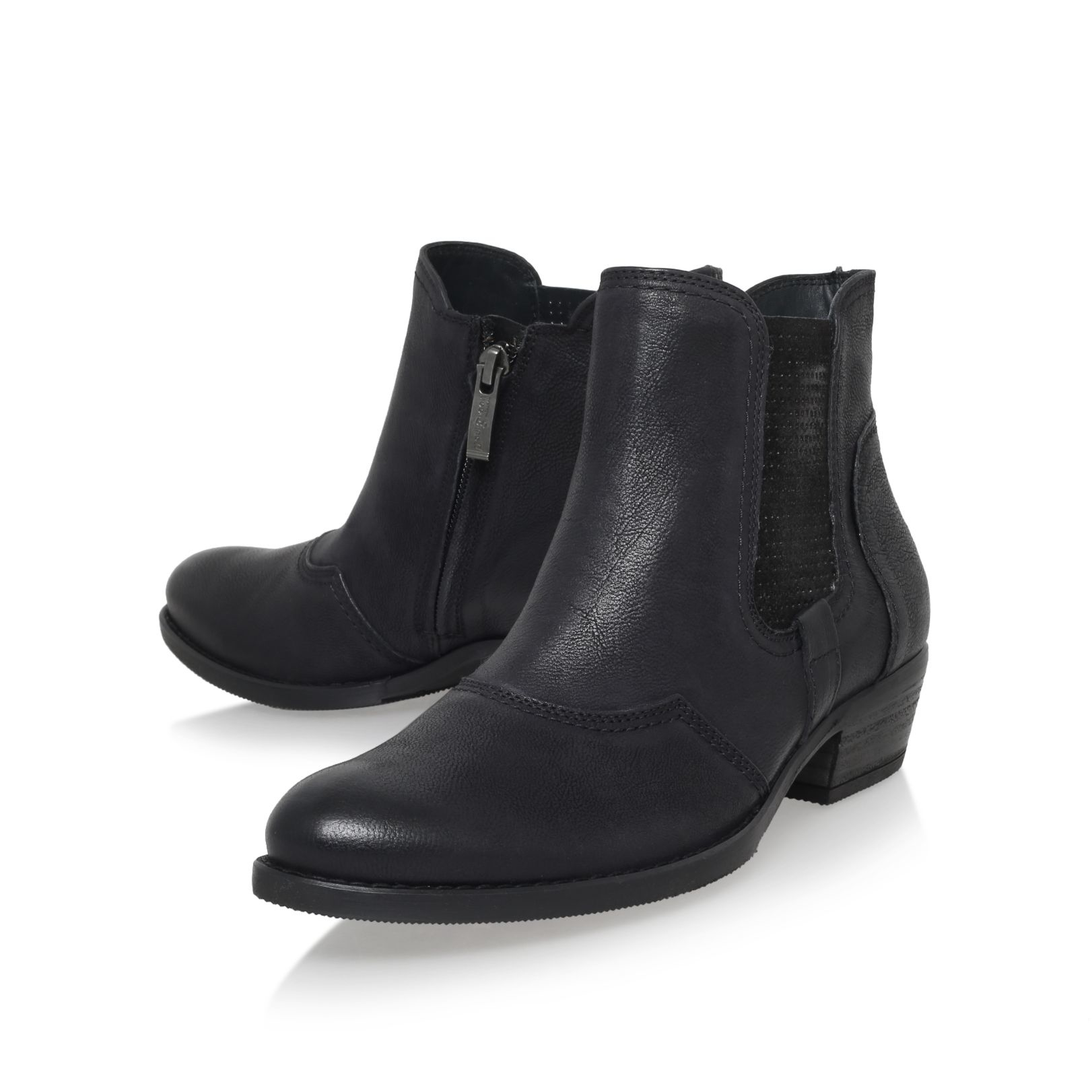 Paul green Michelle Low Heel Ankle Boots in Black | Lyst