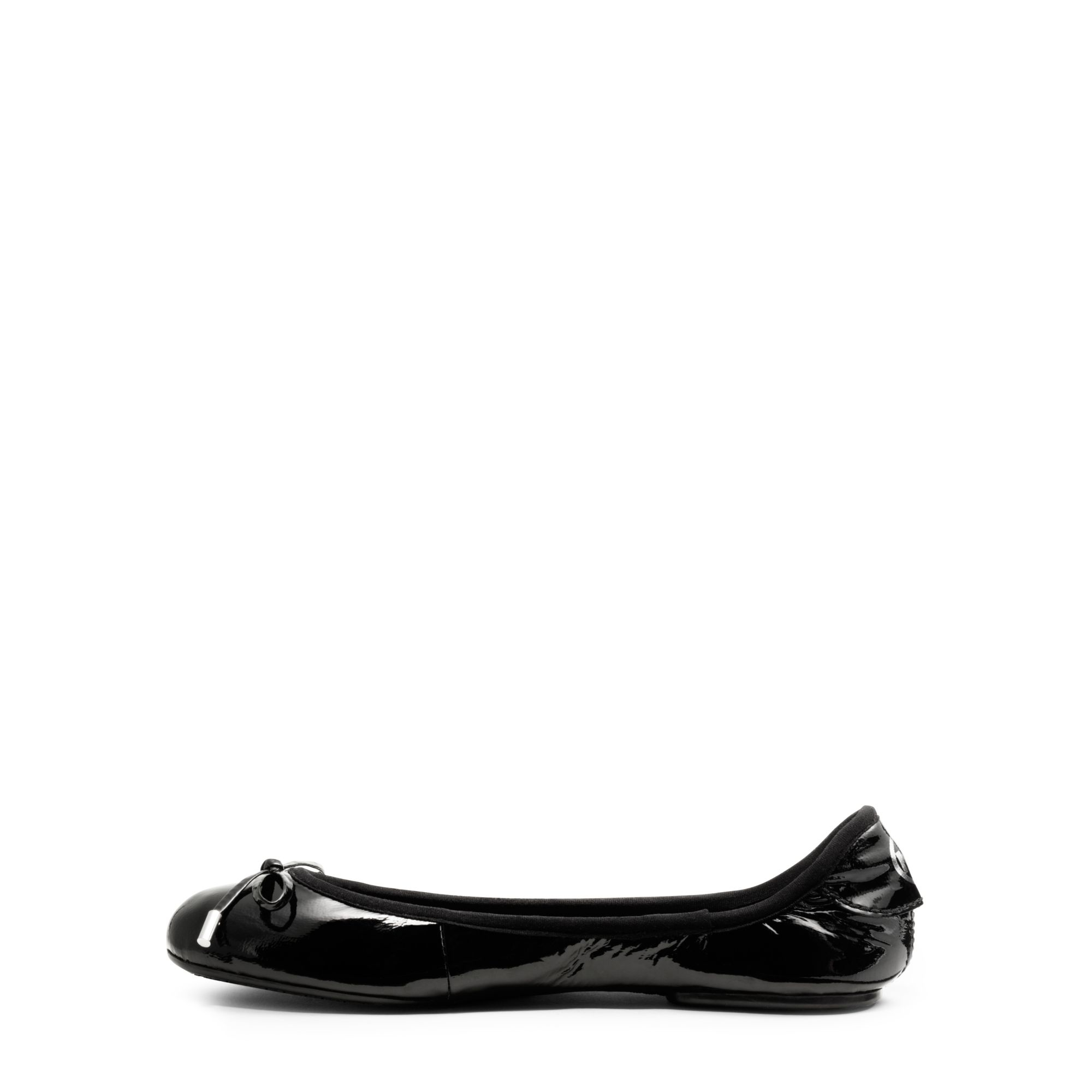 297e0c8d870 Lyst - Michael kors Patent-leather City Ballet Flat in Black
