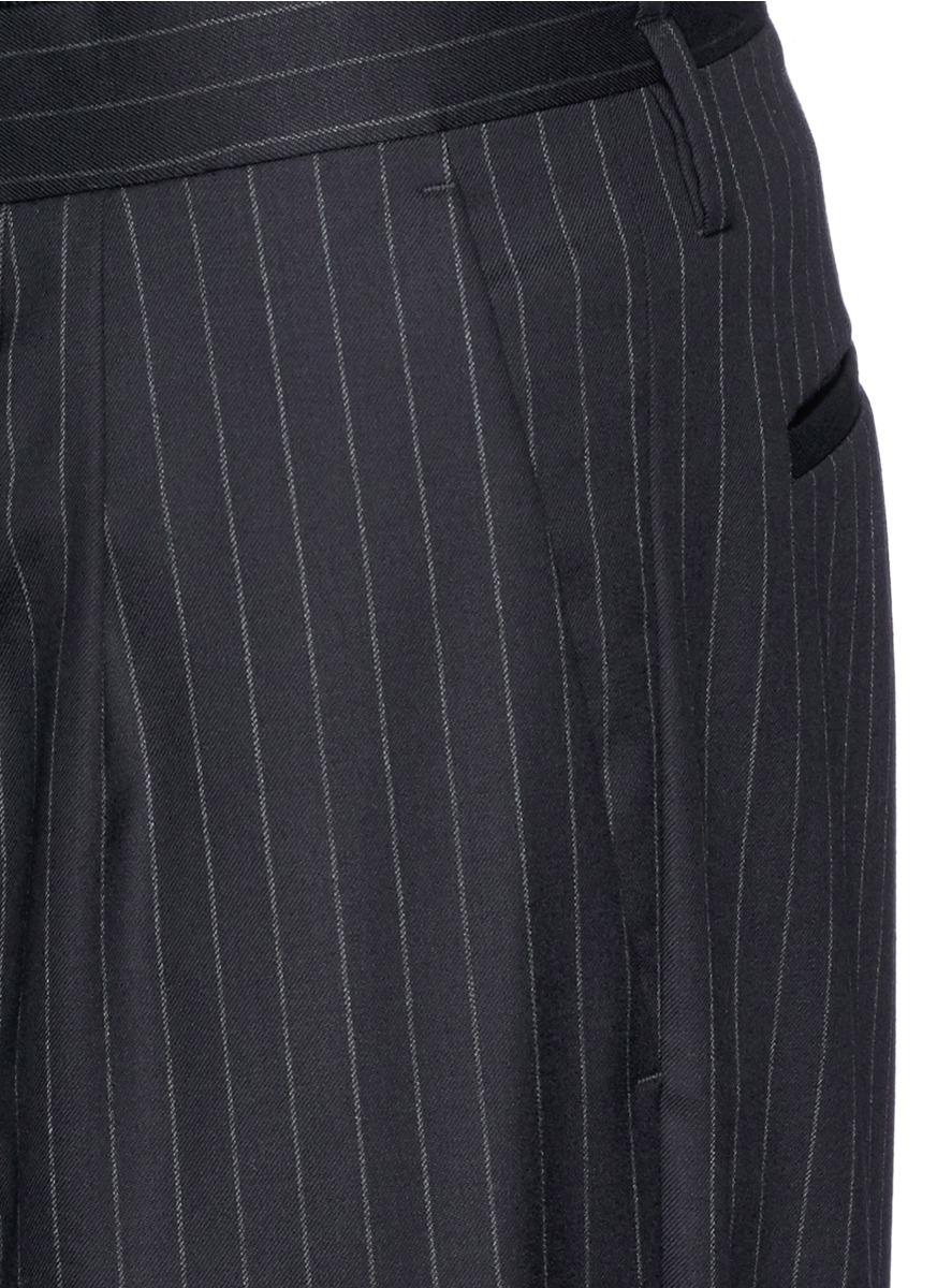 Lyst Paul Smith Pinstripe Wool Pants In Blue For Men